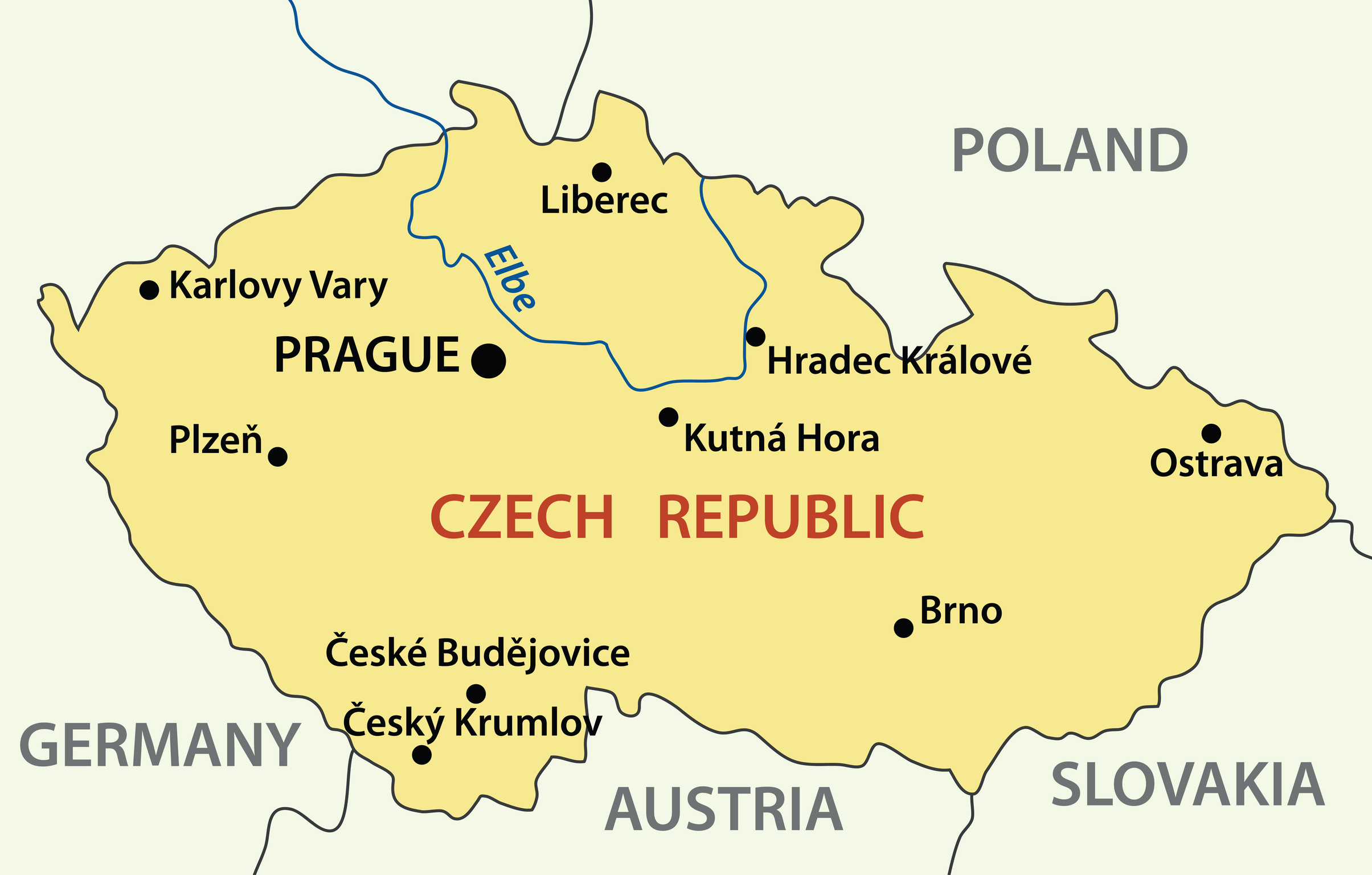 vector map - Czech Republic